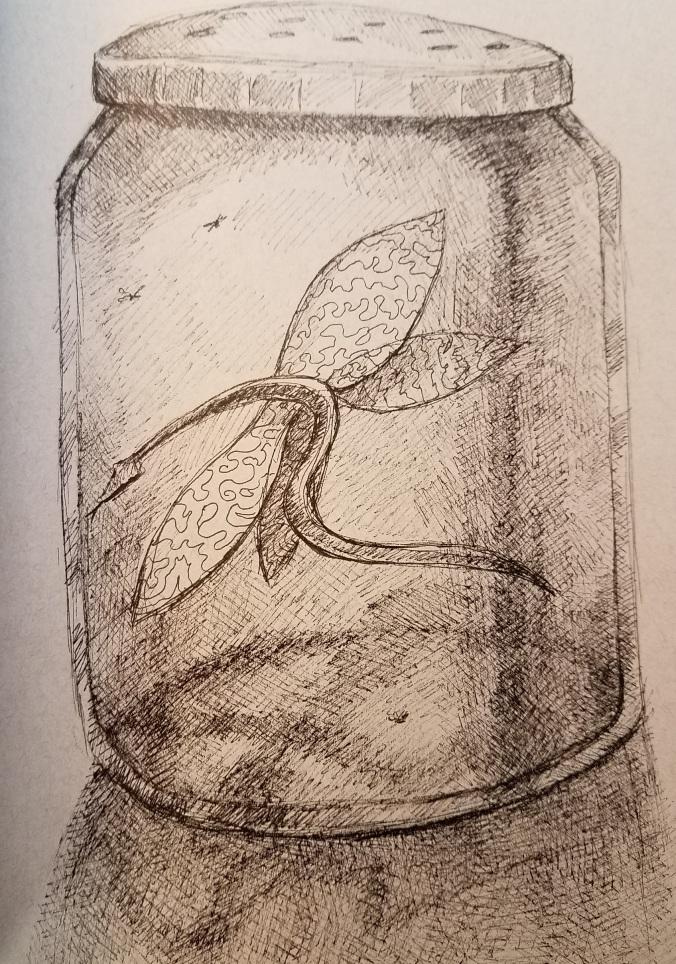 dragon in jar
