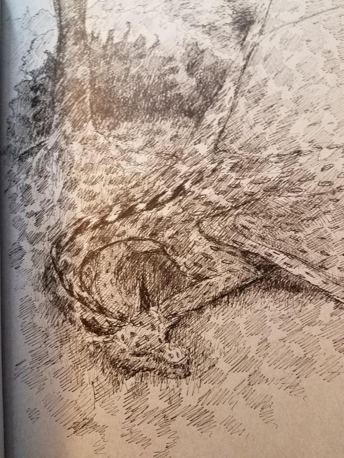 dragon under tree