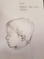 Drawing of Elliot at age 4